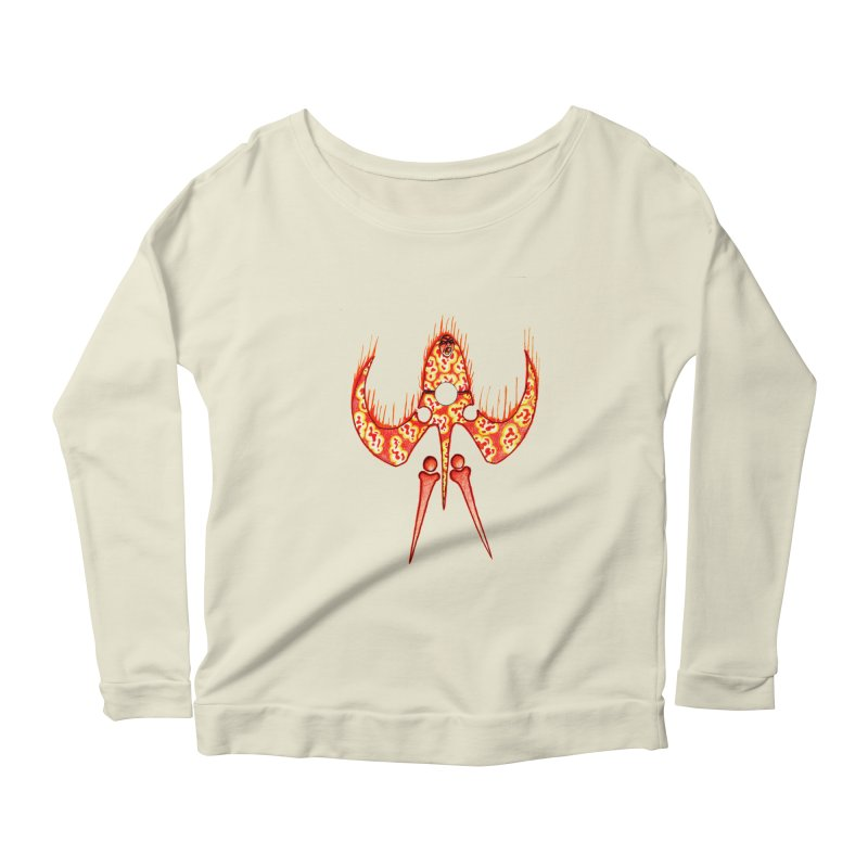 Trip Orange Women's Scoop Neck Longsleeve T-Shirt by Natou's Artist Shop