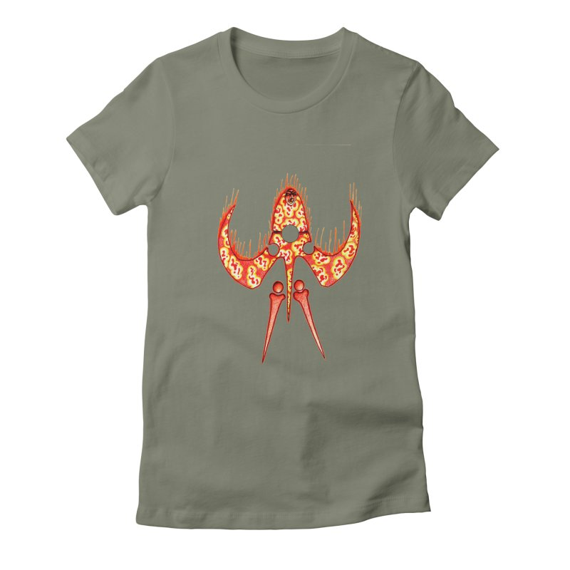 Trip Orange Women's Fitted T-Shirt by Natou's Artist Shop