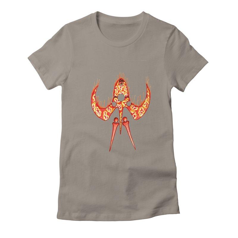 Trip Orange Women's Fitted T-Shirt by Natou's Artist Shop