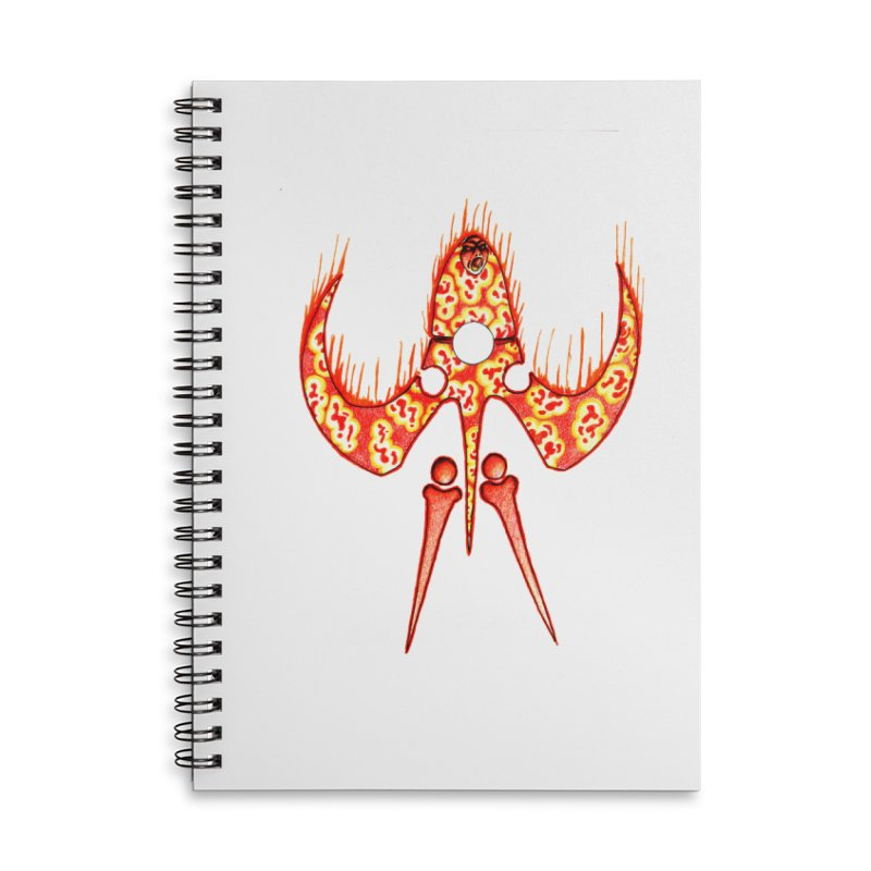 Trip Orange Accessories Lined Spiral Notebook by Natou's Artist Shop