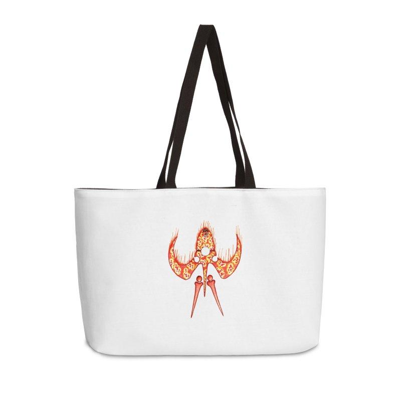 Trip Orange Accessories Weekender Bag Bag by Natou's Artist Shop