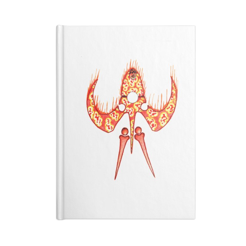 Trip Orange Accessories Lined Journal Notebook by Natou's Artist Shop