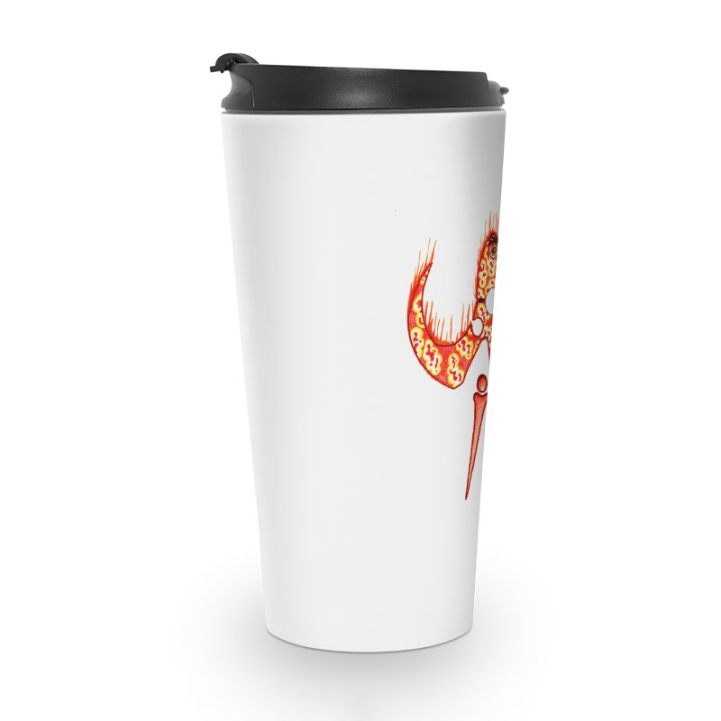 Trip Orange Accessories Travel Mug by Natou's Artist Shop