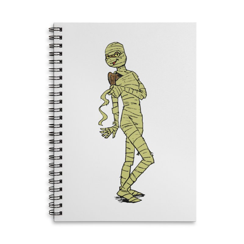 Mimi Mummy Accessories Lined Spiral Notebook by Natou's Artist Shop