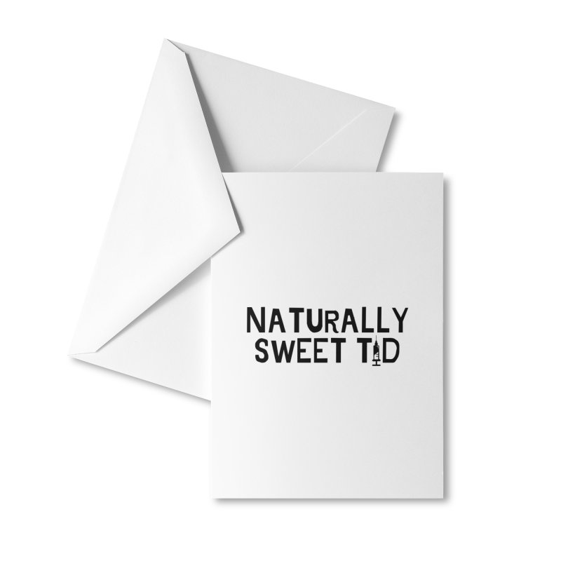 Black NST1D Accessories Greeting Card by naturallysweett1d's store