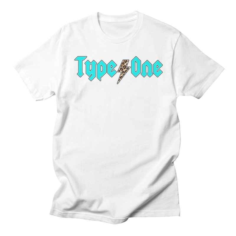 ACDC Teal Type One Tee Men's T-Shirt by naturallysweett1d's store