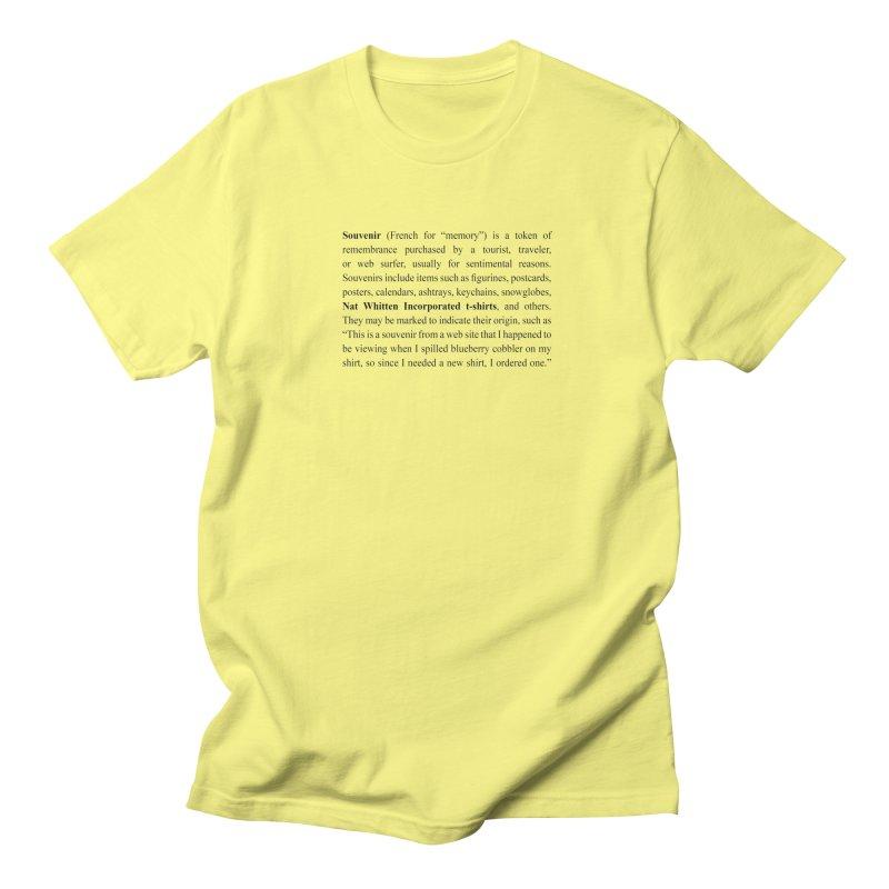 NWI Souvenir Men's T-Shirt by Nat Whitten Incorporated Souvenir Shop & Bazaar