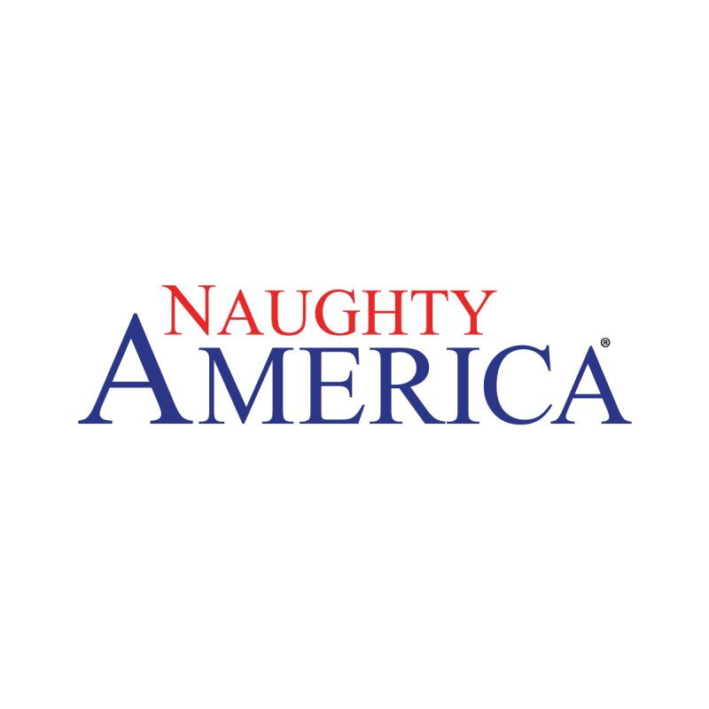 Official Naughty America Logo T-shirt on light colors Men's T-Shirt by Naughty America Official Merchandise
