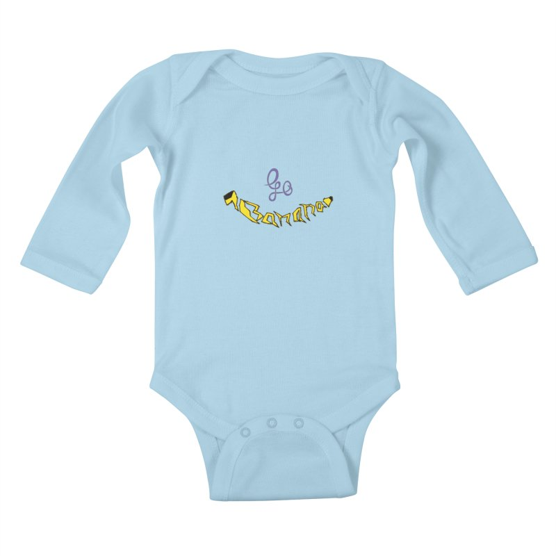 Go Banana Kids Baby Longsleeve Bodysuit by navjinderism's Artist Shop