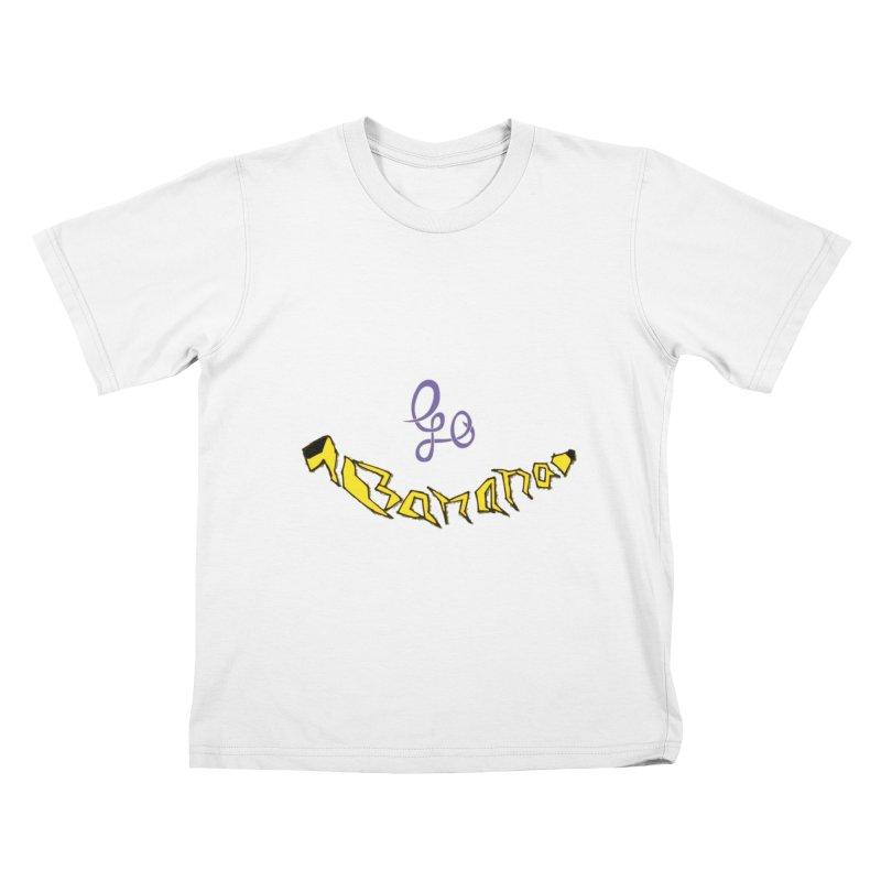 Go Banana Kids T-Shirt by navjinderism's Artist Shop