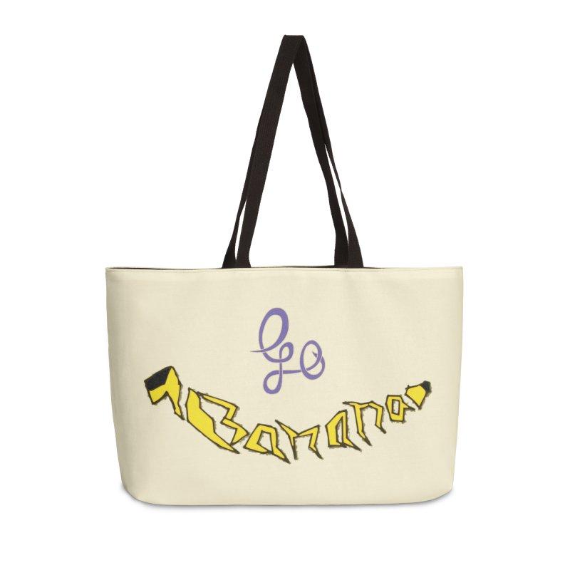 Go Banana Accessories Weekender Bag Bag by navjinderism's Artist Shop
