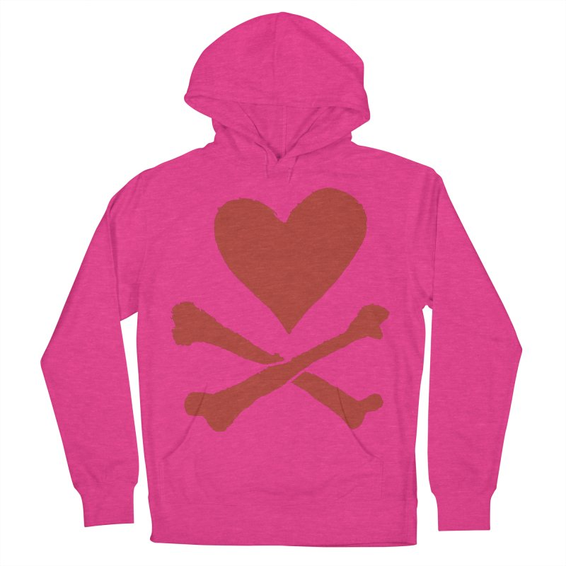 Dangerous Heart Women's French Terry Pullover Hoody by navjinderism's Artist Shop