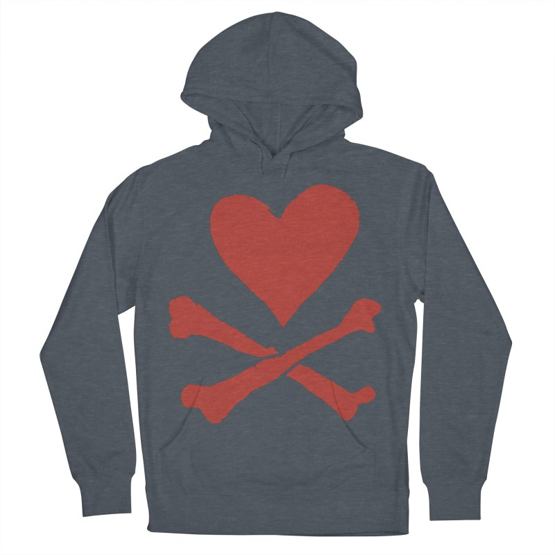 Dangerous Heart Men's French Terry Pullover Hoody by navjinderism's Artist Shop
