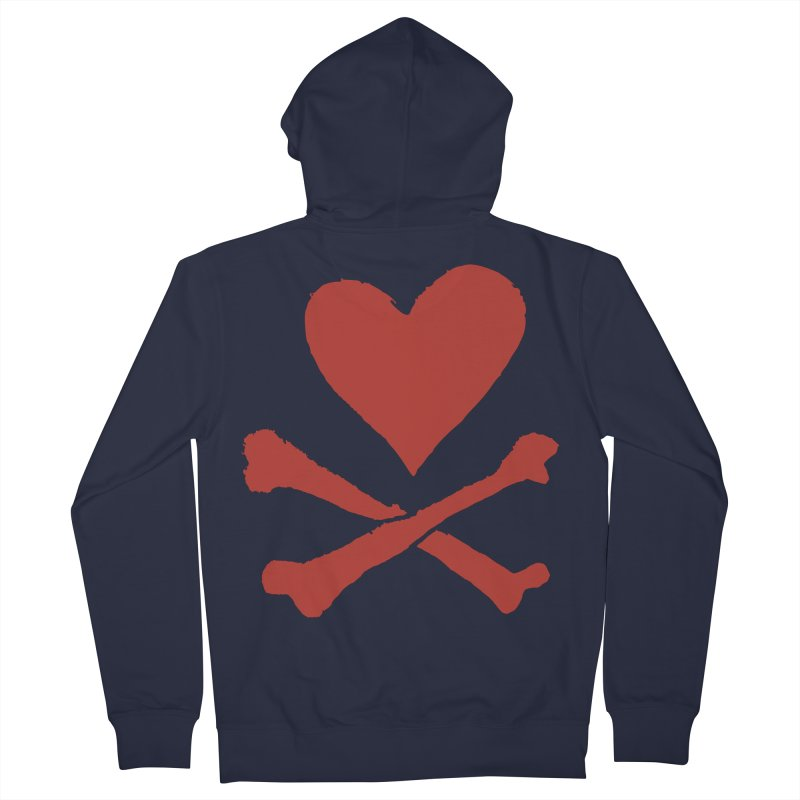 Dangerous Heart Women's French Terry Zip-Up Hoody by navjinderism's Artist Shop