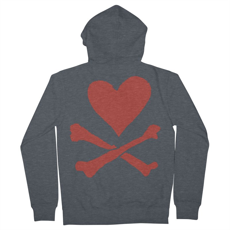 Dangerous Heart Men's French Terry Zip-Up Hoody by navjinderism's Artist Shop
