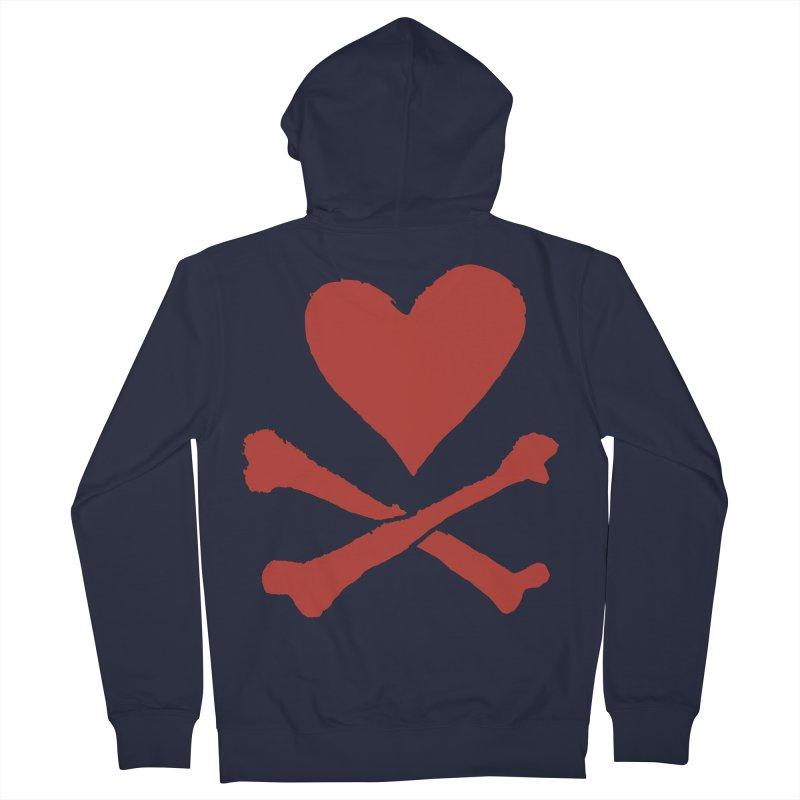 Dangerous Heart Men's French Terry Zip-Up Hoody by navjinderism's Artist Shop