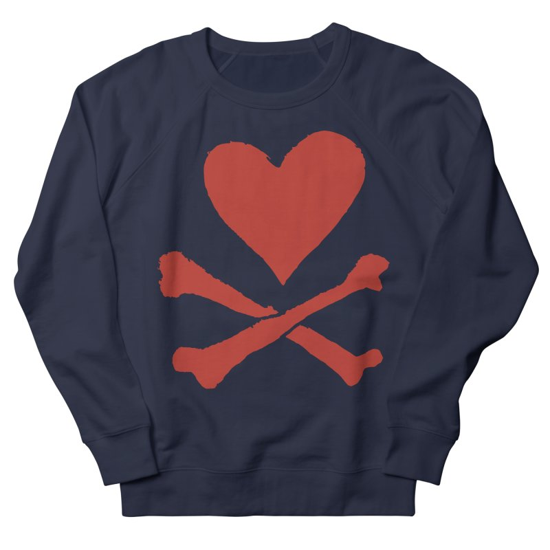 Dangerous Heart Men's French Terry Sweatshirt by navjinderism's Artist Shop