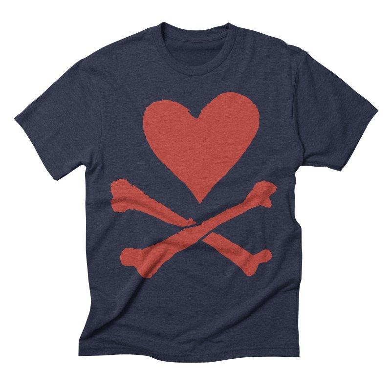 Dangerous Heart Men's Triblend T-Shirt by navjinderism's Artist Shop
