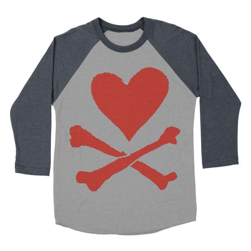 Dangerous Heart Men's Baseball Triblend Longsleeve T-Shirt by navjinderism's Artist Shop