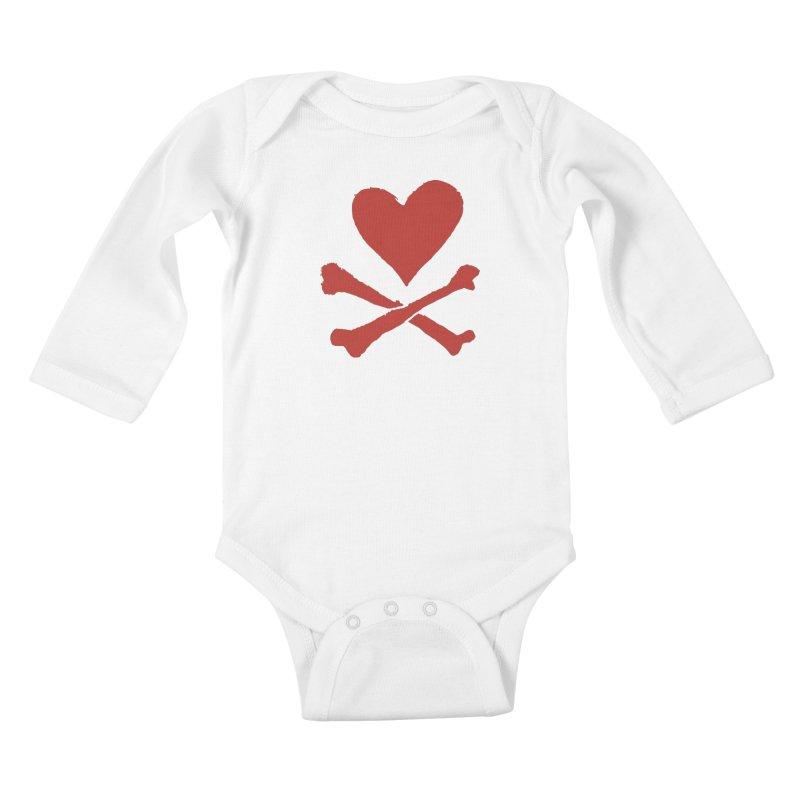 Dangerous Heart Kids Baby Longsleeve Bodysuit by navjinderism's Artist Shop
