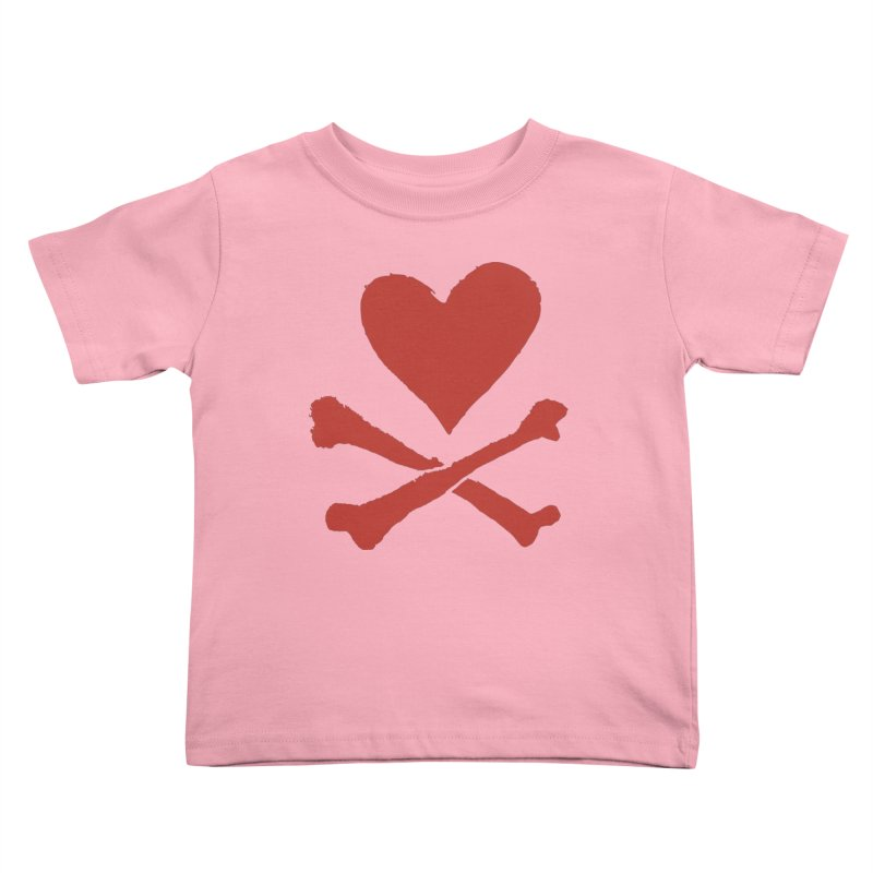 Dangerous Heart Kids Toddler T-Shirt by navjinderism's Artist Shop