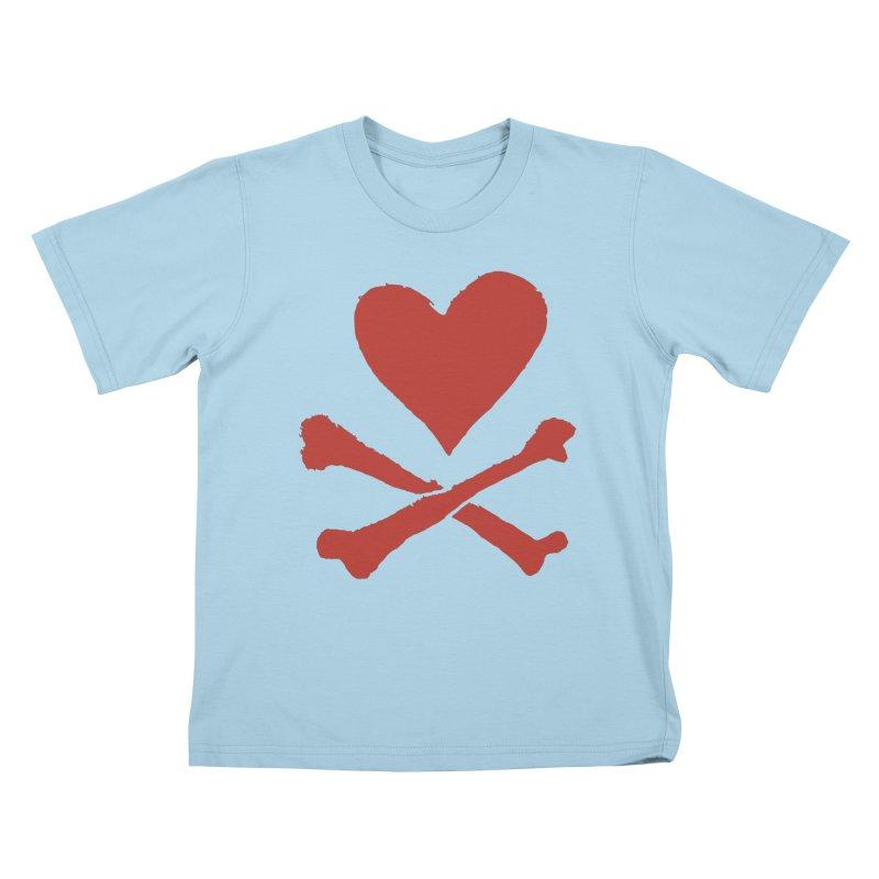 Dangerous Heart Kids T-Shirt by navjinderism's Artist Shop
