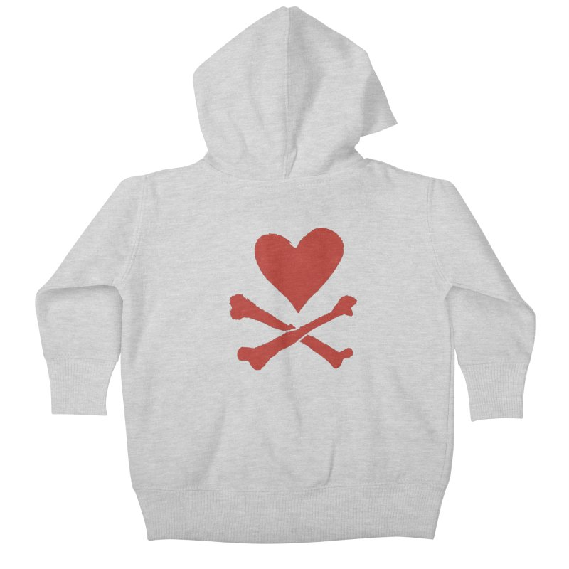 Dangerous Heart Kids Baby Zip-Up Hoody by navjinderism's Artist Shop
