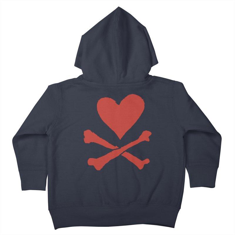 Dangerous Heart Kids Toddler Zip-Up Hoody by navjinderism's Artist Shop