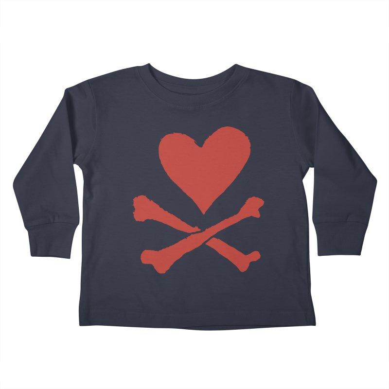 Dangerous Heart Kids Toddler Longsleeve T-Shirt by navjinderism's Artist Shop