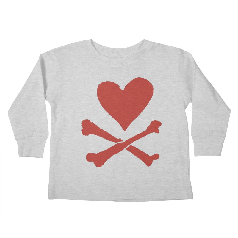 Dangerous Heart Kids Toddler Longsleeve T-Shirt by navjinderism's Artist Shop