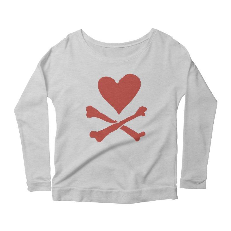 Dangerous Heart Women's Scoop Neck Longsleeve T-Shirt by navjinderism's Artist Shop