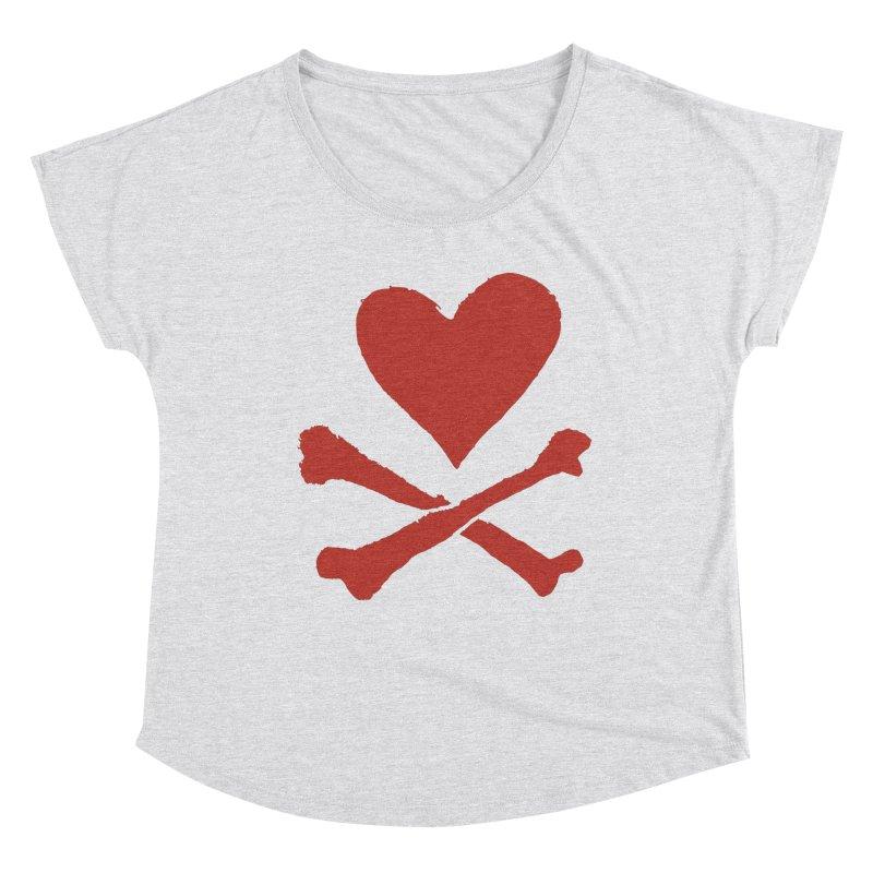 Dangerous Heart Women's Dolman Scoop Neck by navjinderism's Artist Shop