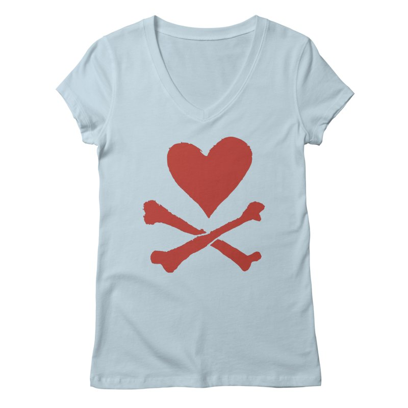 Dangerous Heart Women's Regular V-Neck by navjinderism's Artist Shop