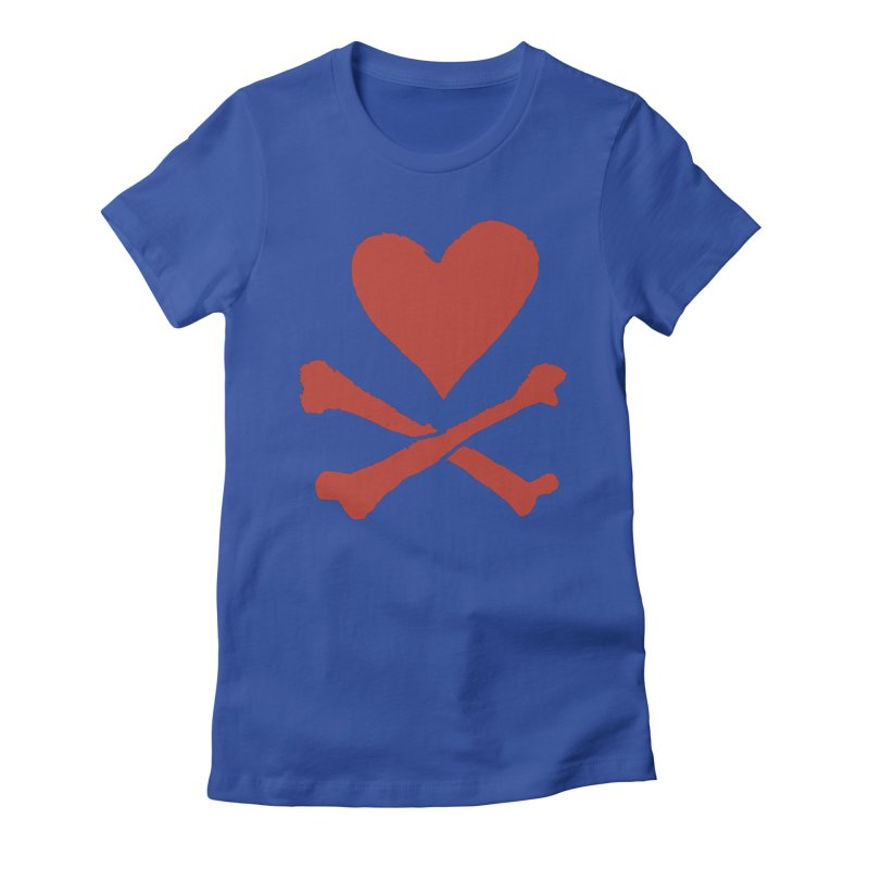 Dangerous Heart Women's Fitted T-Shirt by navjinderism's Artist Shop
