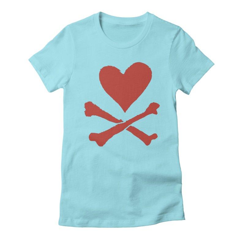 Dangerous Heart Women's Fitted T-Shirt by navjinderism's Artist Shop