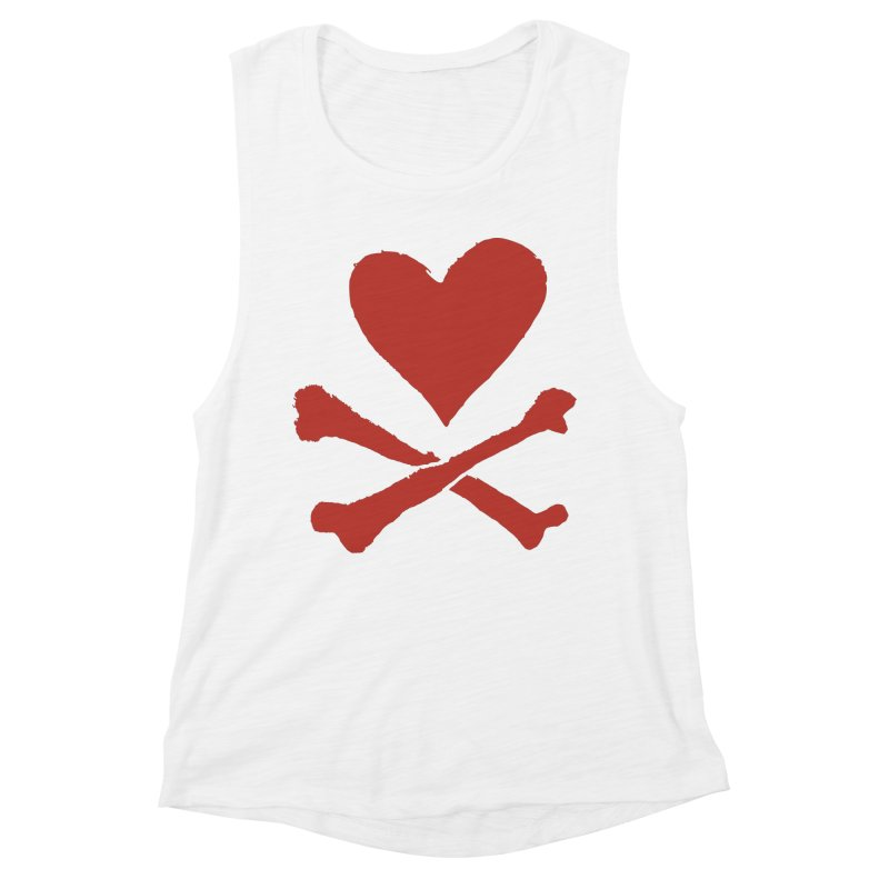 Dangerous Heart Women's Muscle Tank by navjinderism's Artist Shop