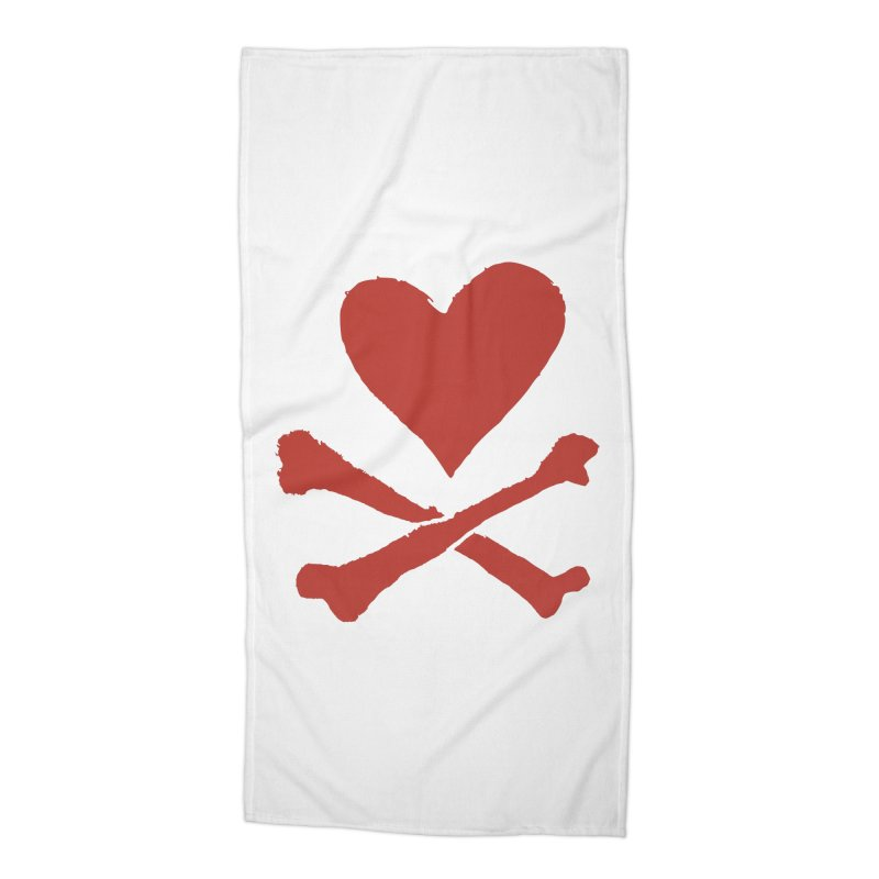 Dangerous Heart Accessories Beach Towel by navjinderism's Artist Shop
