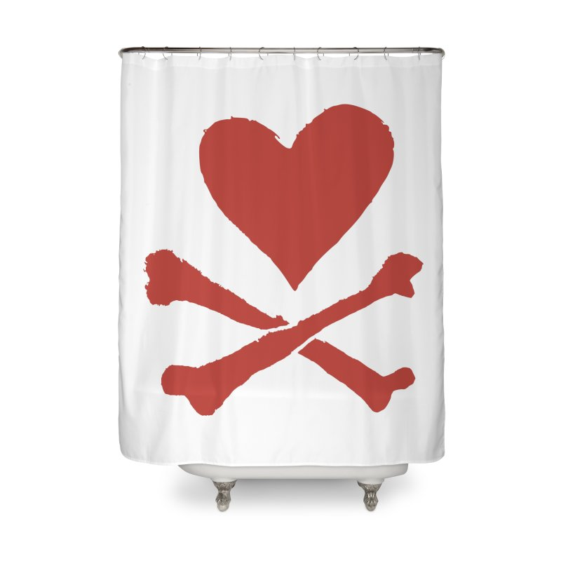 Dangerous Heart Home Shower Curtain by navjinderism's Artist Shop