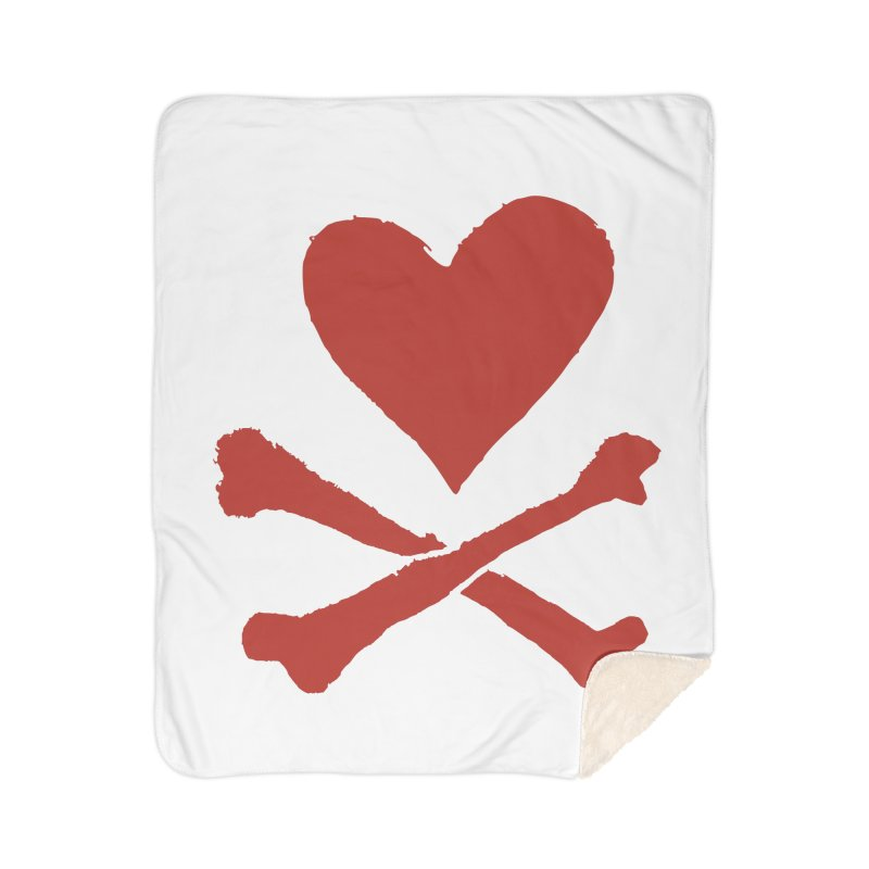 Dangerous Heart Home Sherpa Blanket Blanket by navjinderism's Artist Shop