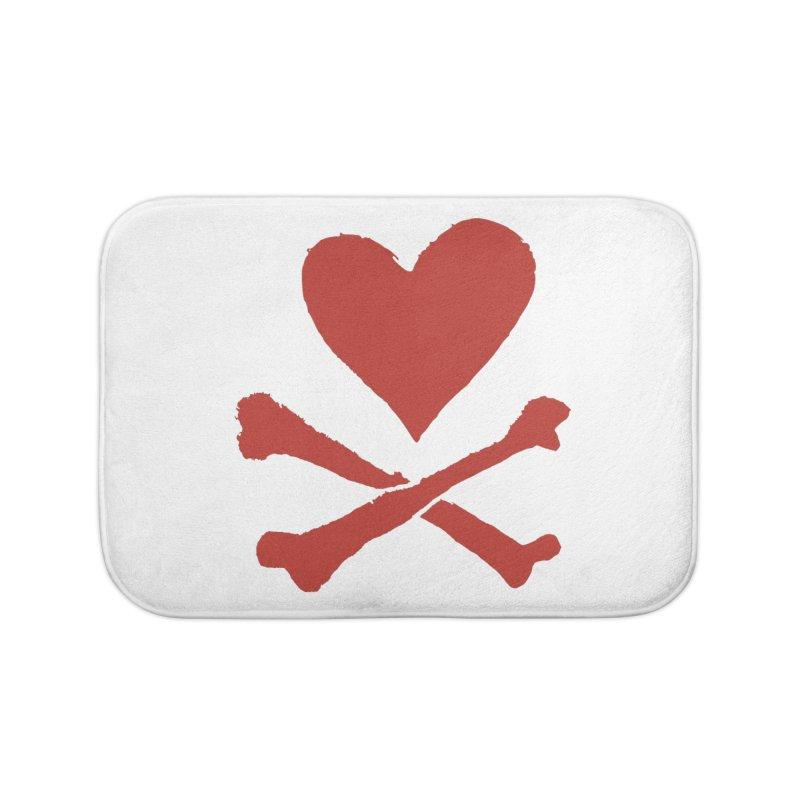 Dangerous Heart Home Bath Mat by navjinderism's Artist Shop