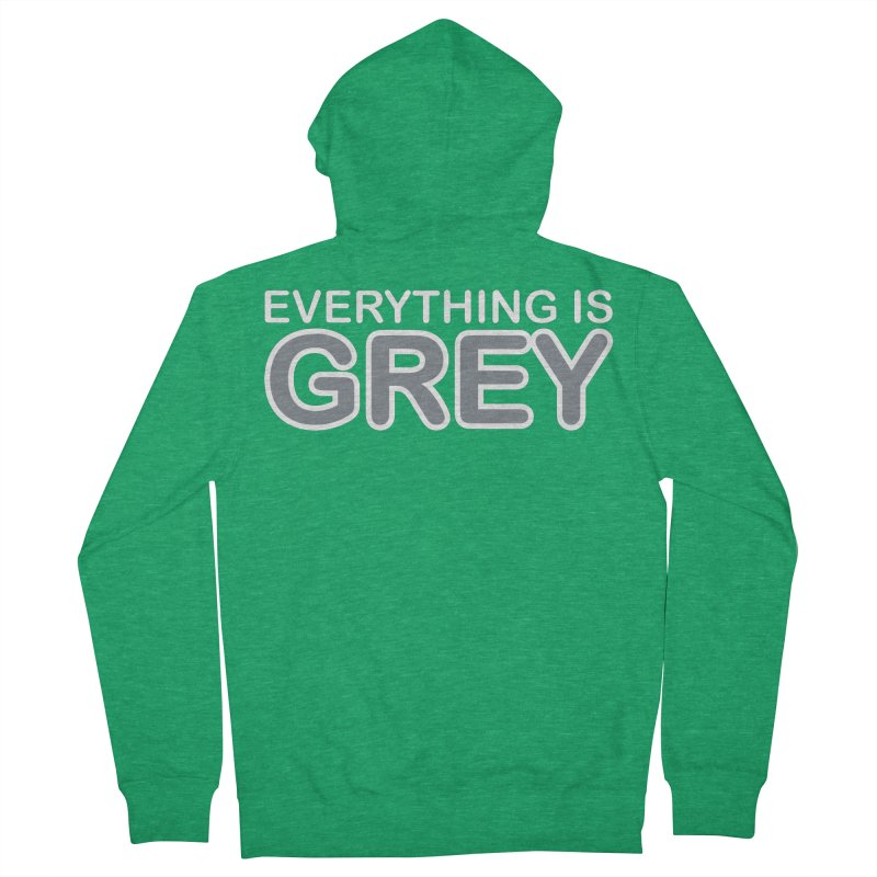 Everything is Grey Men's Zip-Up Hoody by navjinderism's Artist Shop