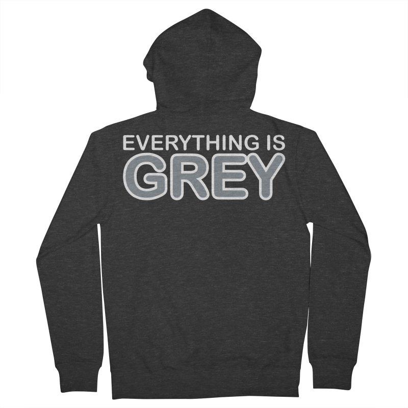 Everything is Grey Men's Zip-Up Hoody by navjinderism's Artist Shop