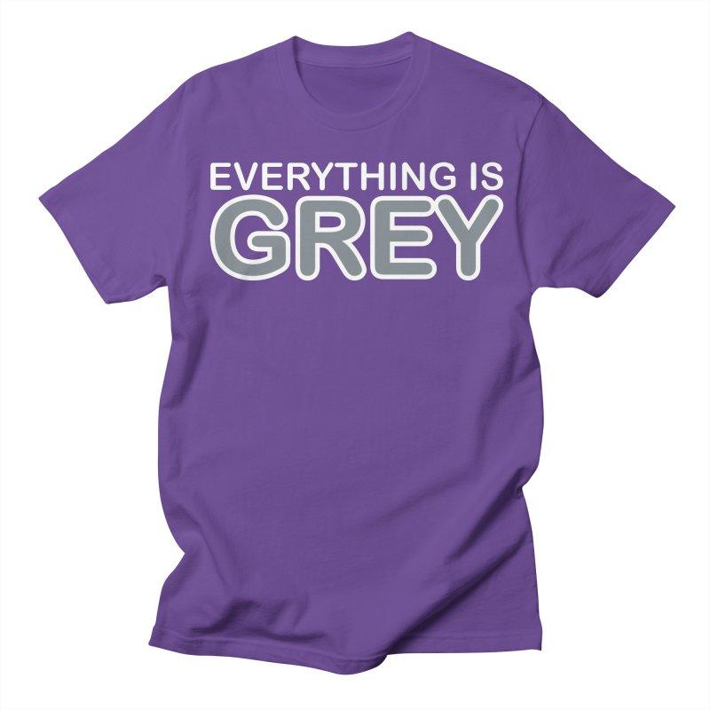 Everything is Grey Men's Regular T-Shirt by navjinderism's Artist Shop