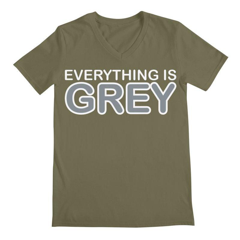 Everything is Grey Men's Regular V-Neck by navjinderism's Artist Shop