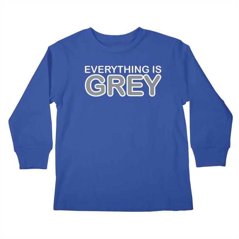 Everything is Grey Kids Longsleeve T-Shirt by navjinderism's Artist Shop