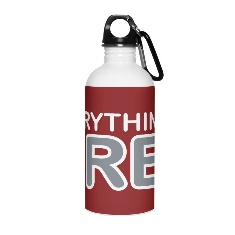 Everything is Grey Accessories Water Bottle by navjinderism's Artist Shop