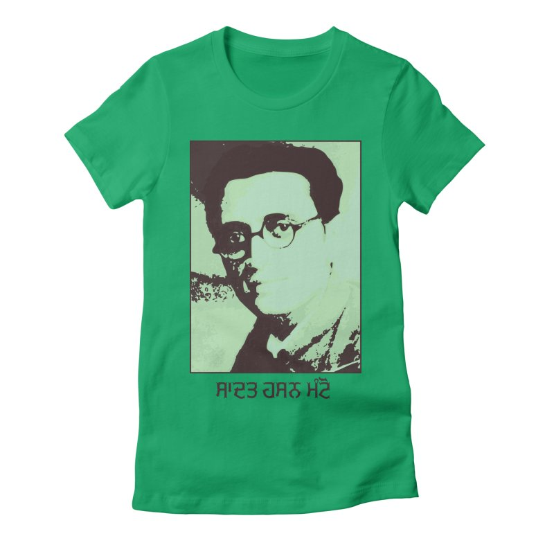 Manto Women's Fitted T-Shirt by navjinderism's Artist Shop