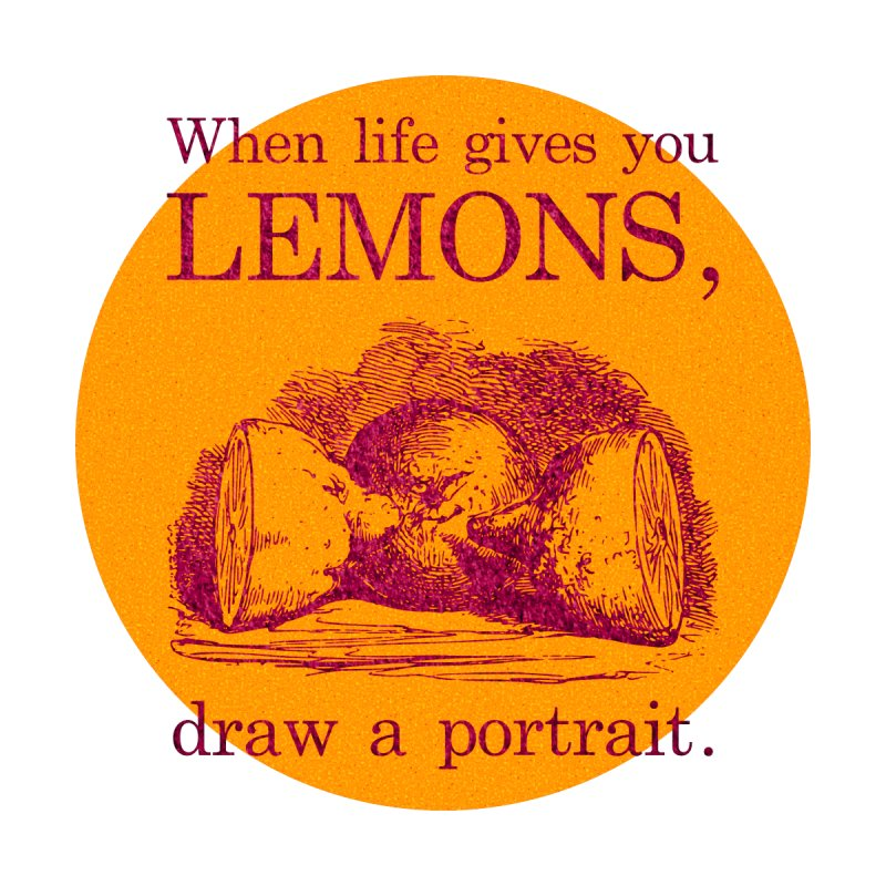 When Life Gives You Lemons, Draw A Portrait Home Throw Pillow by navjinderism's Artist Shop