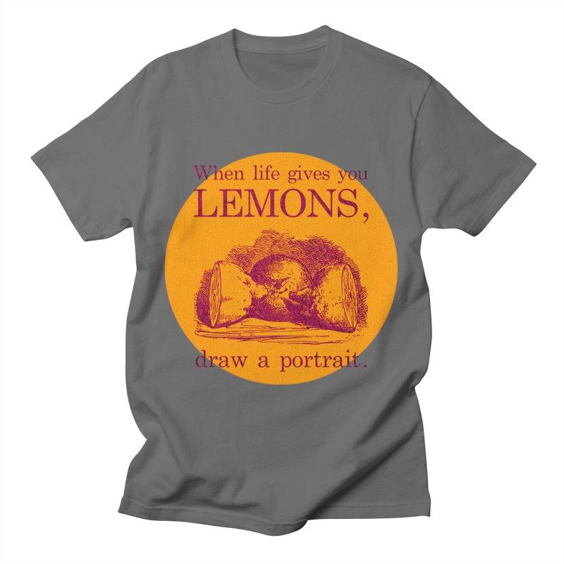 When Life Gives You Lemons, Draw A Portrait Women's T-Shirt by navjinderism's Artist Shop