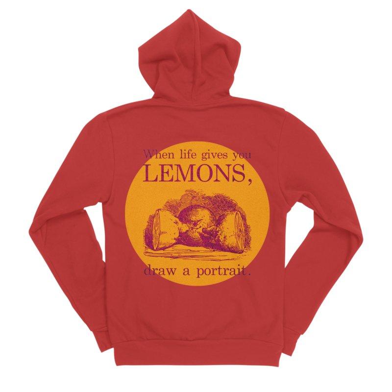 When Life Gives You Lemons, Draw A Portrait Men's Sponge Fleece Zip-Up Hoody by navjinderism's Artist Shop